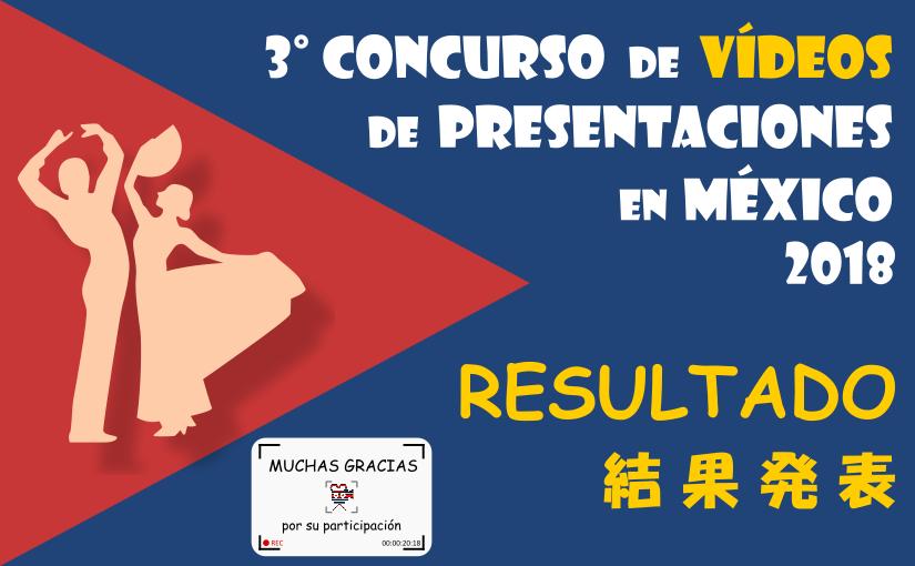 Resultado del 3° Concurso de Vídeos de Presentaciones en México2018